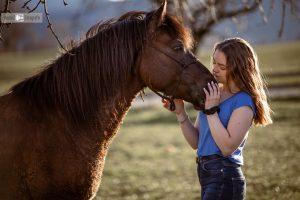 Pferdefotografie mit Mensch